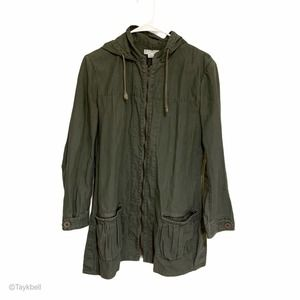 Cotton On Olive Green Utility Army Jacket Zip Up M